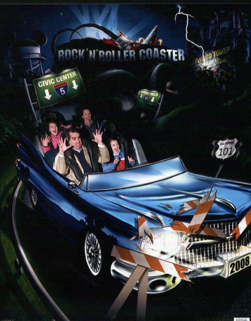 The Fam Riding Rock 'n Roller Coaster at Disney Studios at Walt Disney World